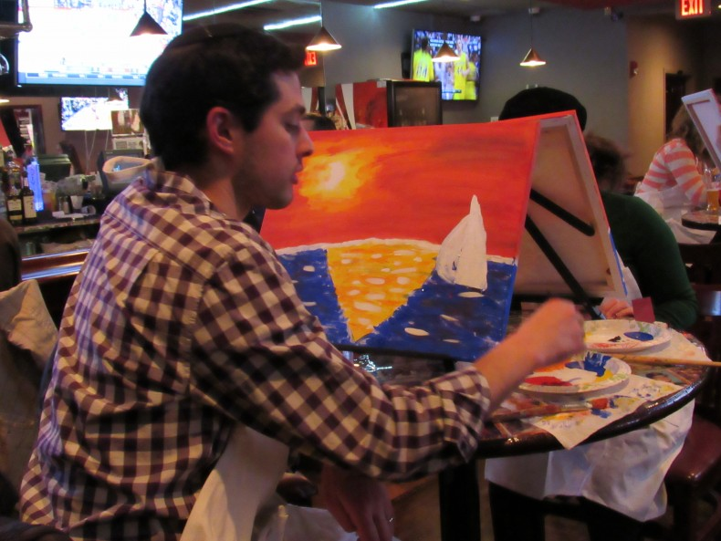 Teaneck Doghouse Hosts Paint With Me!